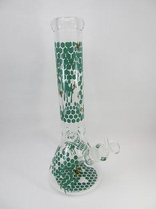 Green Bee Honeycomb Water Pipe