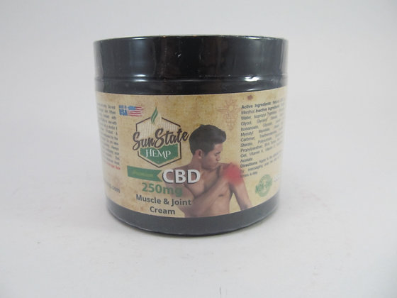 CBD 250mg Muscle and Joint Cream Sun State