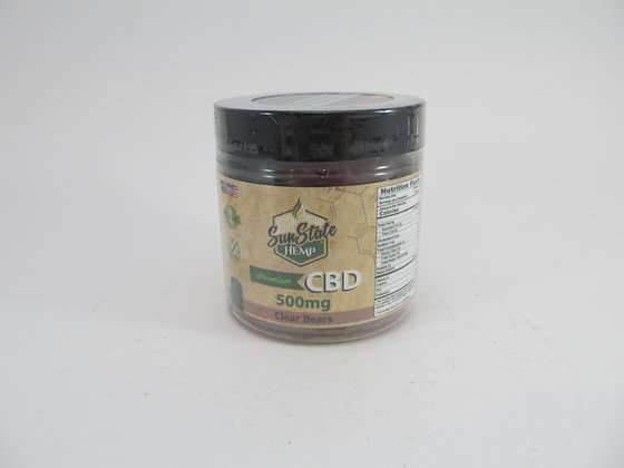 CBD Sun State Gummy Bears 500mg