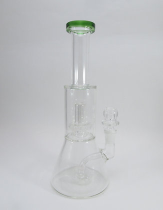 Tall Green Water Pipe w/ Perc