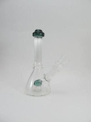 Mini Indented Beaker Pipe w/ Bottom Perc