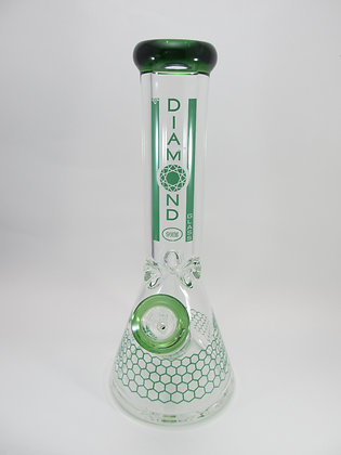 Green DIAMOND Water Pipe w/ Perc