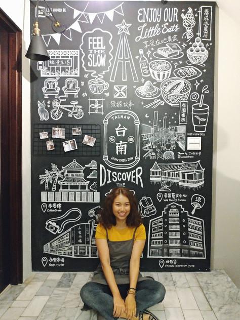 黑板牆壁畫|台南民宿