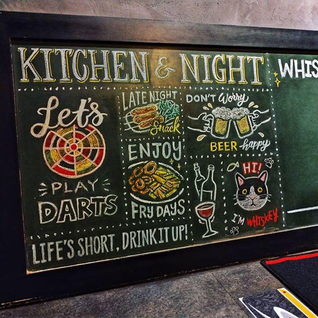 黑板畫|餐酒館