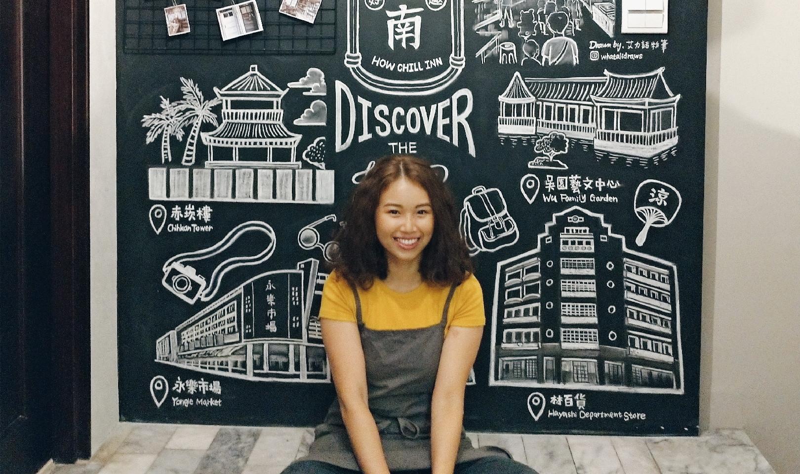 黑板畫|台南民宿