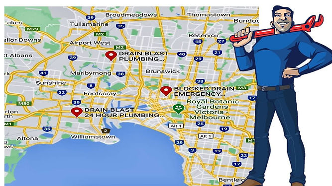 all suburbs of melbourne contact drain blast plumbing