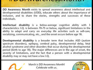 March is National Developmental Disabilities Awareness Month!
