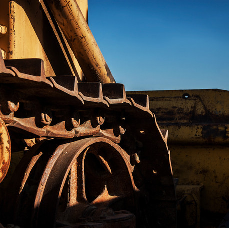 Closeup and Selective Focus Rusty Wheel