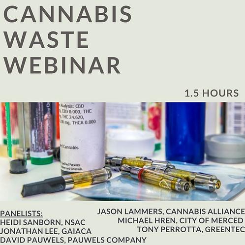 Cannabis Waste Webinar