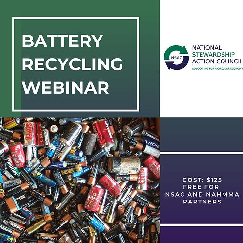 Battery Recycling Webinar Recording