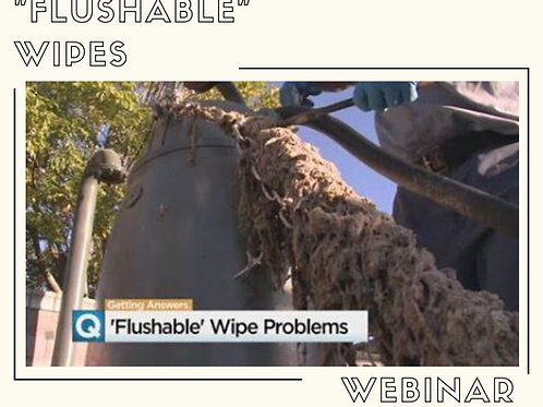 How to Deal with Flushable Wipes Webinar