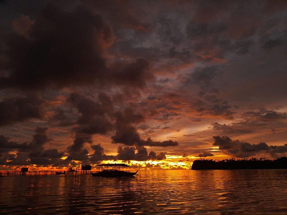 Sunset on Mbuke Island, Manus Province, Papua New Guinea
