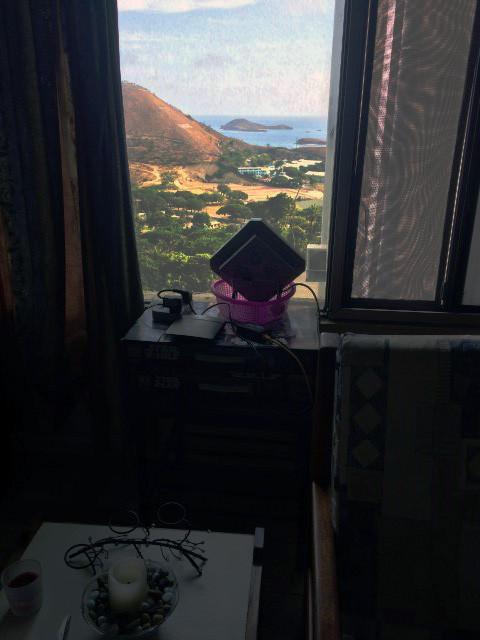 Non line of sight antenna on the windown