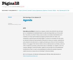 Agenda de Página/12.