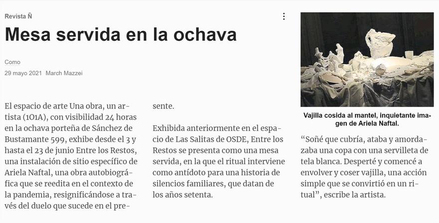 Clarín. Revista Ñ.