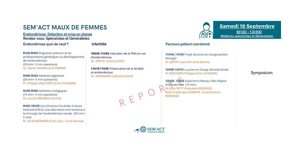 Rdv : Spécialistes et généralistes - Endométriose: Parcours patient, prise en charge et actualités.