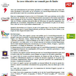 Avenir Educs soutient et signe le communiqué de presse du Collectif Prévention Spécialisée des Yveli