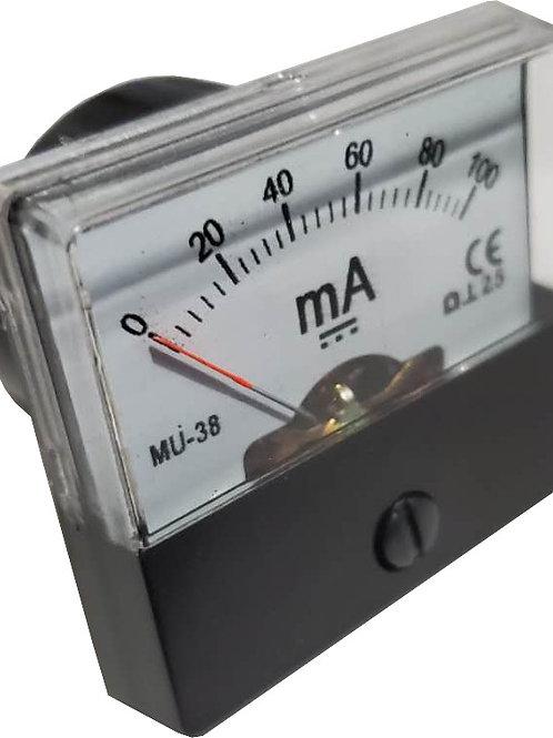 0~100mA DC電流パネルメータ MU38-DC100MA