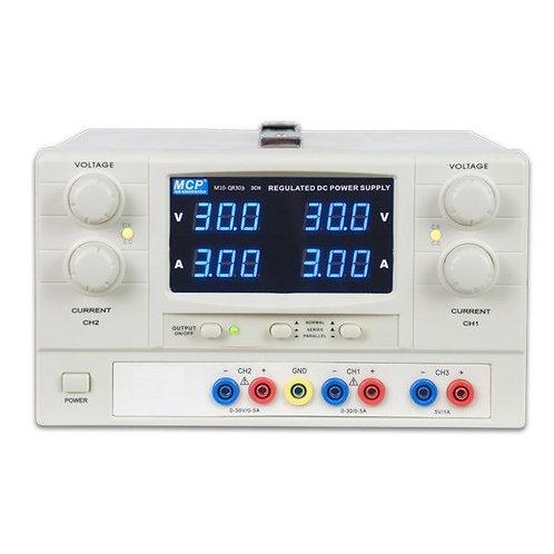 多出力直流安定化電源 3チャンネル 60V 6A M10-QR303