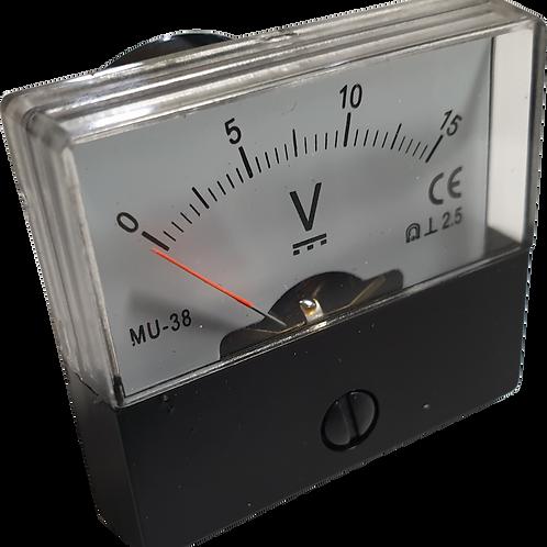 0~15V DC電圧パネルメータ MU38-DC15V
