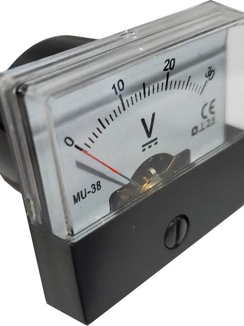 0~30V DC電圧パネルメータ MU38-DC30V