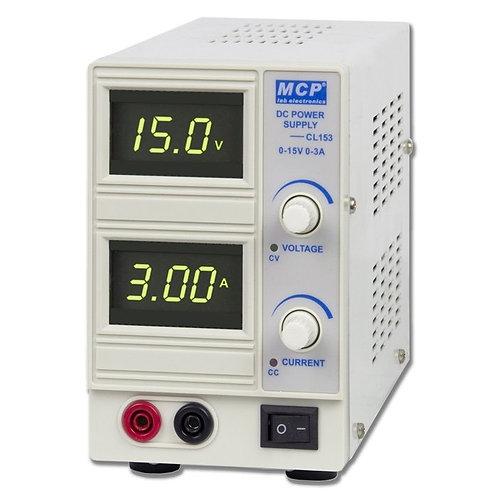 デジタル直流安定化電源 0~15V 0~3A CL153