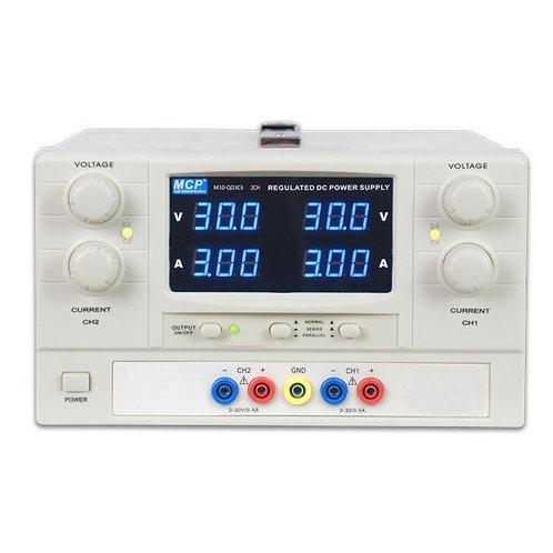 多出力直流安定化電源 2チャンネル 60V 6A M10-QD303
