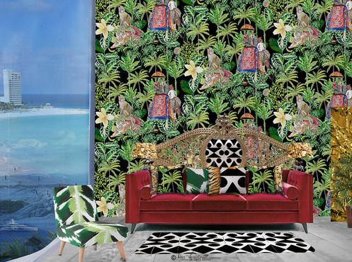 Intricate Tropical Dream Wallpaper