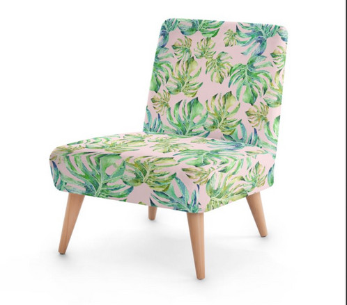 coral tropical escape occasional chair