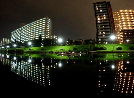 2020/10/03東京水路ナイトパドリング(水鏡の季節)