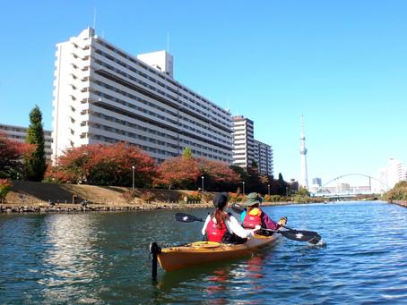 2020/10/31東京水路カヤックツアー(1/2day)