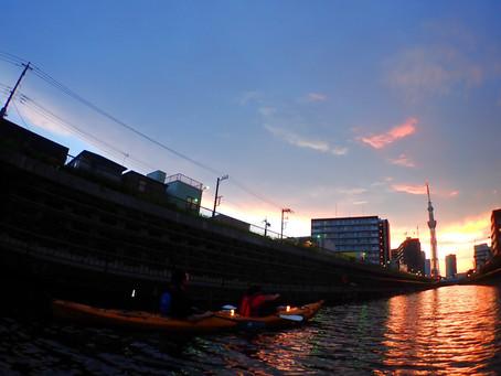 2021/07/23東京水路ナイトパドリング