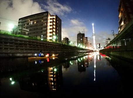 2020/09/28東京水路ナイトパドリング