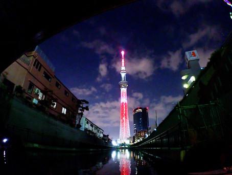 2020/12/27東京水路ナイトパドリング