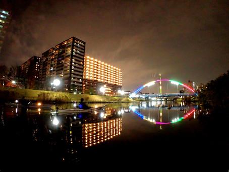 2020/12/11東京水路ナイトパドリング