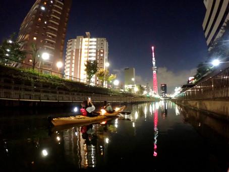 2020/10/24東京水路ナイトパドリング