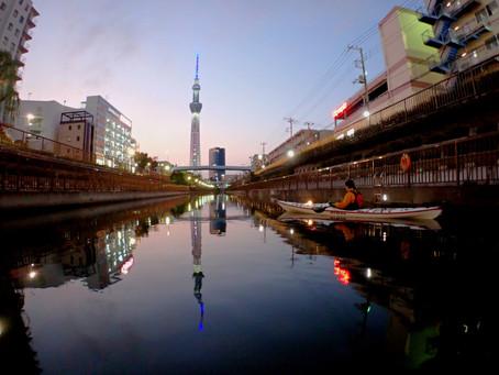 2020/11/03東京水路ナイトパドリング