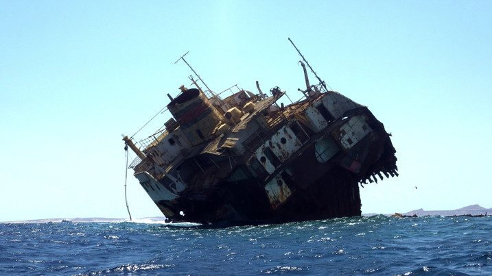Wreck ship in Red Sea