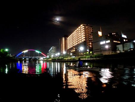 2020/10/27東京水路ナイトパドリング