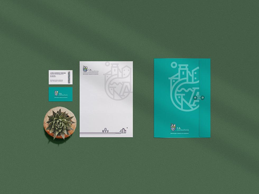 folder stationery branding mockup copiar