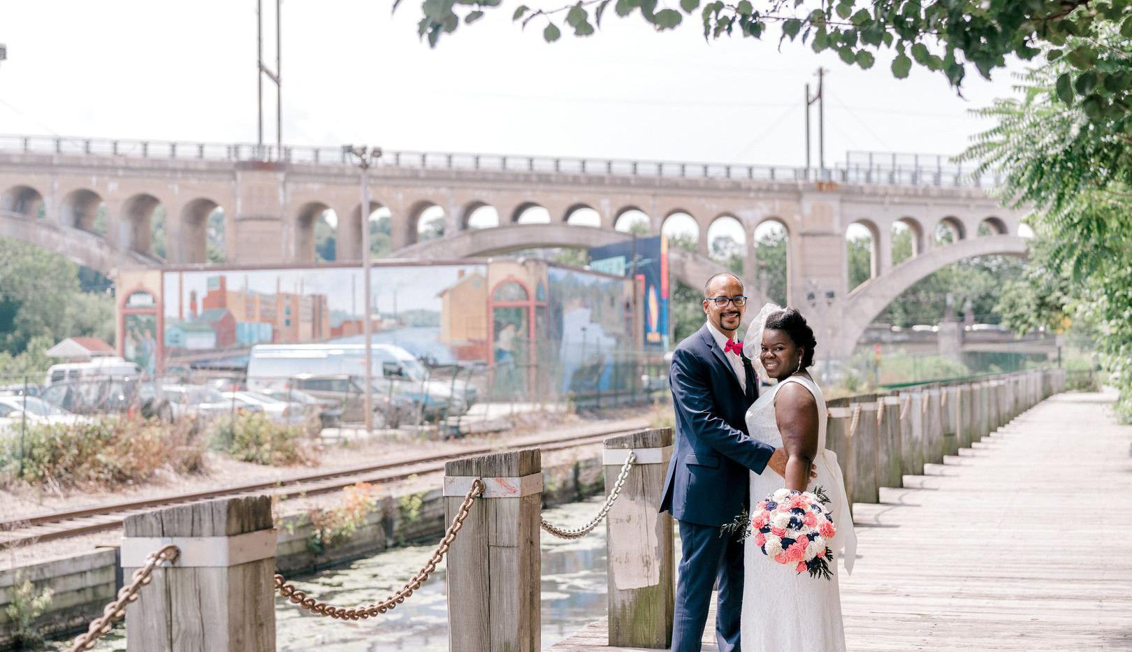Mr & Mrs Fletcher bridge shot