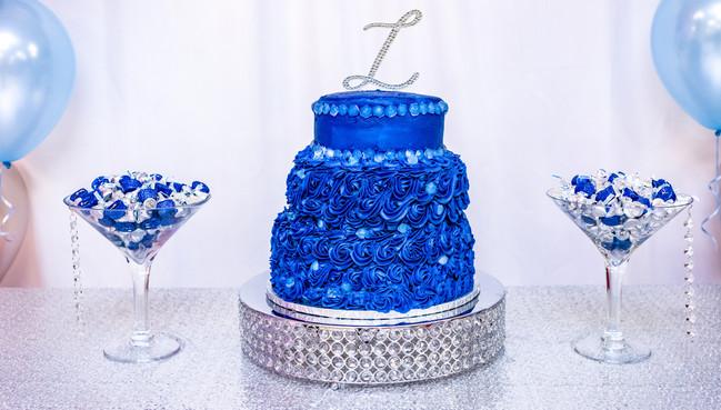 Denim and diamond treat table