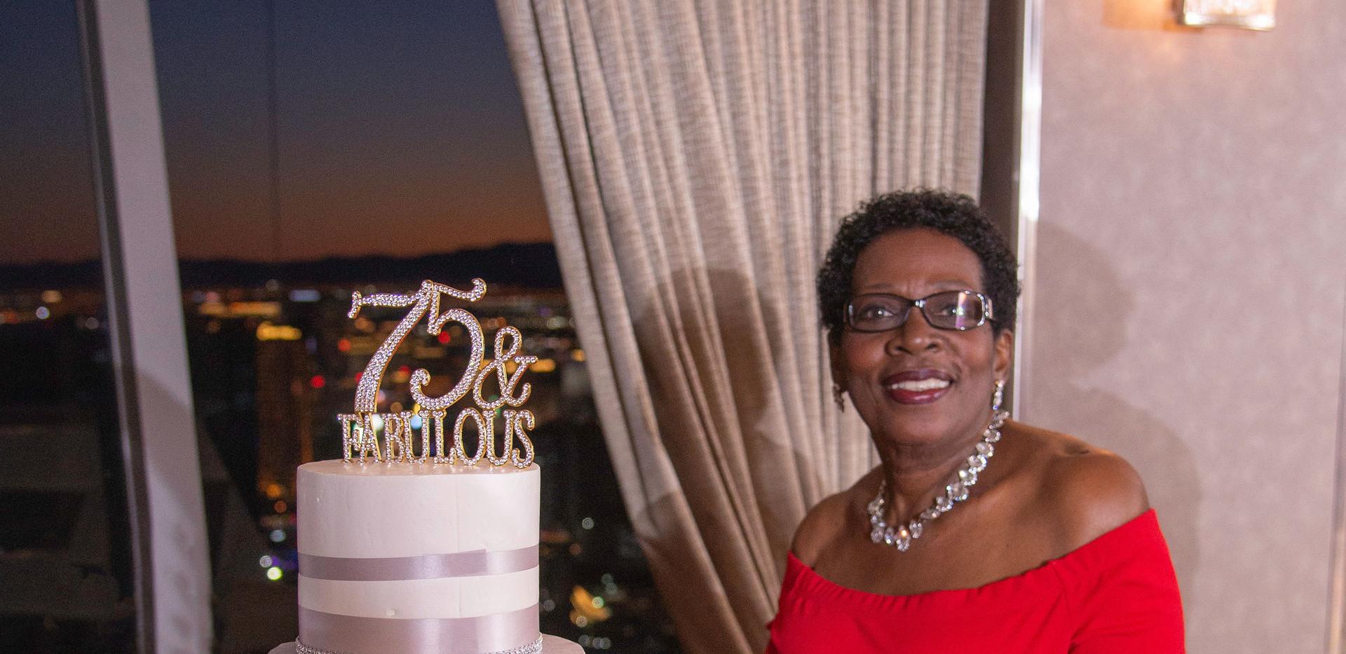 Cupcake Birthday display provided by Stratosphere Hotel in Las Vegas