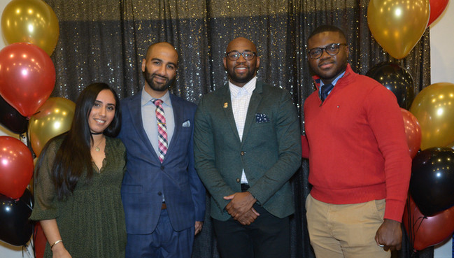 2020-2021 NAHSE Delaware Valley Chapter Executive Board: Tabish Mian (Secretary), Asad Chaudhry (Parliamentarian), Tyshawn Toney (President) and Christopher Nyenpan (President-Elect)