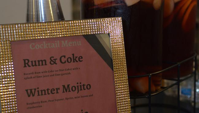 NAHSE cocktail menu