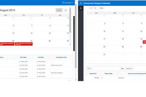 Concurrent Request Calendar: Oracle APEX