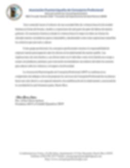 Mensaje desde la Presidencia APCP en con