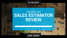 Amazon FBA Sales Estimators Review