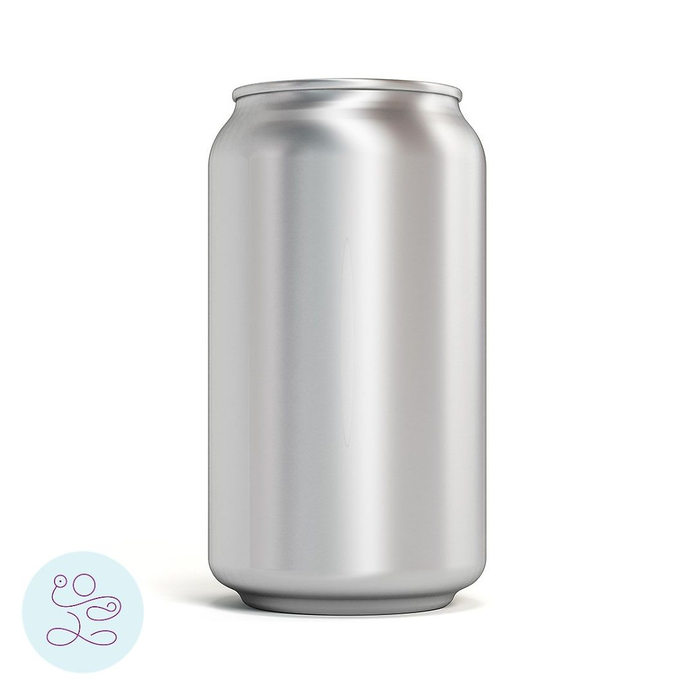 Silver soda can to demonstrate concept of intra-abdominal pressure or IAP.