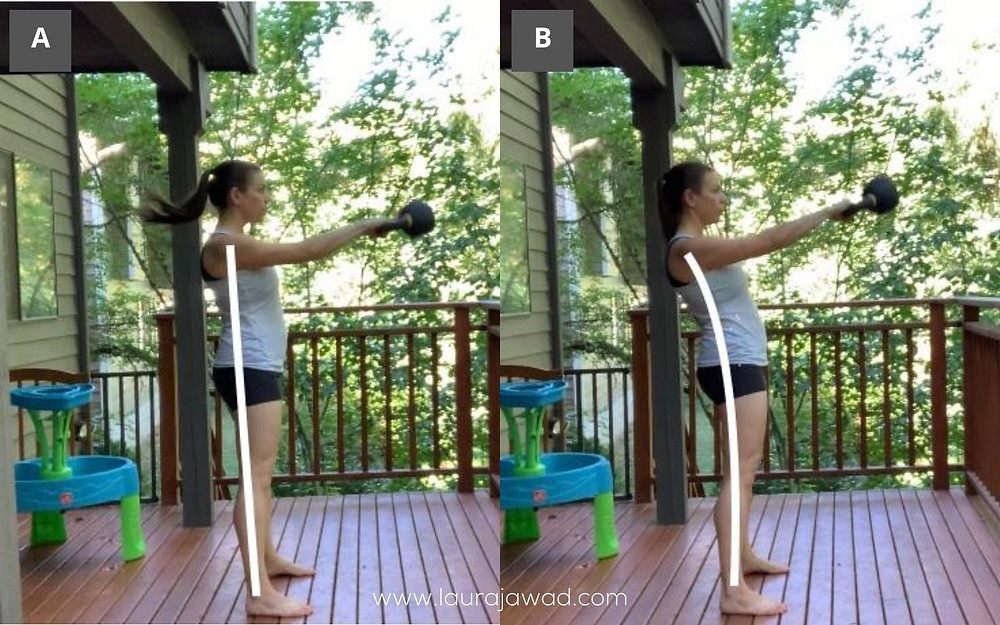 Kettlebell Swing- Stacked vs thrusty alignment at top of swing